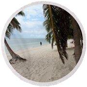 Windswept Palms Round Beach Towel