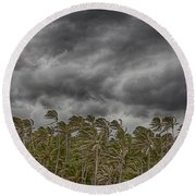 Windswept V3 Round Beach Towel