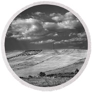 Windy At The Cereal Fields Round Beach Towel
