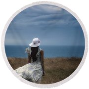 Windy Day Round Beach Towel