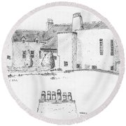 Windy Hill House Round Beach Towel