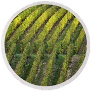 Wine Acreage In Germany Round Beach Towel