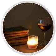 Wine And Wonder B Round Beach Towel