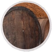 Wine Barrel Round Beach Towel