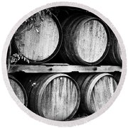 Wine Barrels Round Beach Towel by Scott Pellegrin