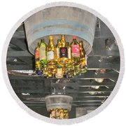 Wine Bottle Chandelier Round Beach Towel