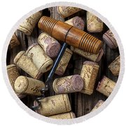Wine Corks Celebration Round Beach Towel