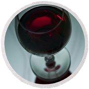 Wine Glass 2 Round Beach Towel