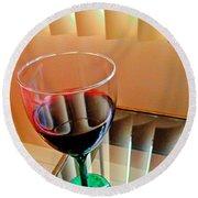 Wine Glass Round Beach Towel