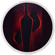 Wine Glow Round Beach Towel by Sandi Whetzel