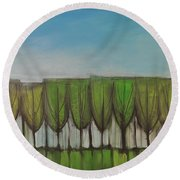 Wineglass Treeline Round Beach Towel
