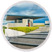 Winery Modernism Round Beach Towel