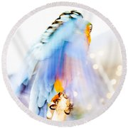 Wing Dream Round Beach Towel by Fran Riley