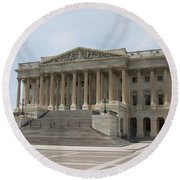 Wing Of The Capitol - Washington Dc  Round Beach Towel