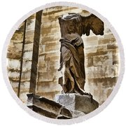 Winged Victory - Louvre Round Beach Towel