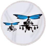 Wingin It - Blue Round Beach Towel
