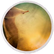 Wings Of Freedom Round Beach Towel by Loriental Photography