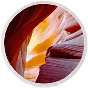 Wink In Lower Antelope Canyon In Page-arizona Round Beach Towel