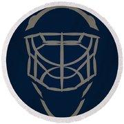 Winnipeg Jets Goalie Mask Round Beach Towel
