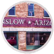 Winslow Arizona 2 Round Beach Towel