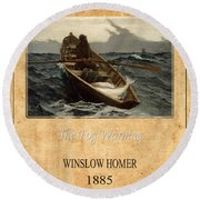 Winslow Homer 4 Round Beach Towel