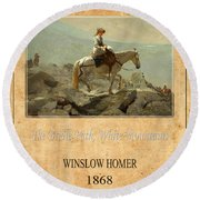 Winslow Homer 5 Round Beach Towel