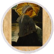 Winslow Homer 6 Round Beach Towel