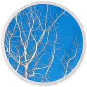 Winter Round Beach Towel