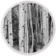 Winter Approaches Round Beach Towel