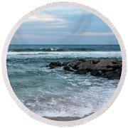 Winter Beach Lavallette New Jersey  Round Beach Towel