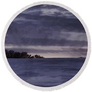 Winter Blues Round Beach Towel by Thomas Young