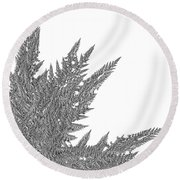 Winter Branches By Jammer Round Beach Towel