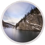 Winter Calm Round Beach Towel