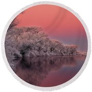 Winter Color Round Beach Towel
