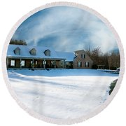 Winter Day Three Round Beach Towel