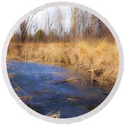 Winter Fade Round Beach Towel