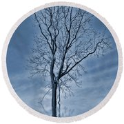 Winter Floods Round Beach Towel