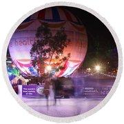 Winter Gardens Ice Rink And Balloon Bournemouth Round Beach Towel