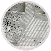 Winter Haven Abstract Round Beach Towel