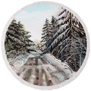 Winter In The Boons Round Beach Towel by Shana Rowe Jackson