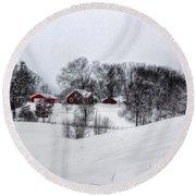 Winter Landscape 5 Round Beach Towel