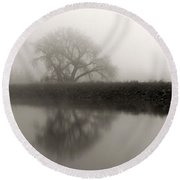 Winter Mist Round Beach Towel