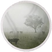 Winter Morning Londrigan 5 Round Beach Towel