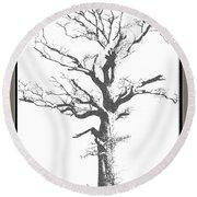 Winter Oak Art Round Beach Towel