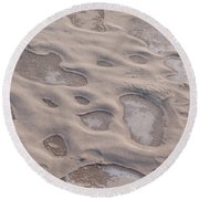Winter Sand Art Round Beach Towel