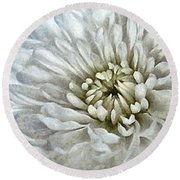 Winter Shade Of Pale Round Beach Towel