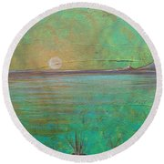 Winter Solitude 7 Round Beach Towel