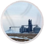 Winter Storage II Round Beach Towel