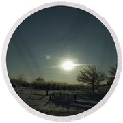 Winter Sunrise 2014 05 Round Beach Towel