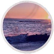 Winter Sunset In Laguna Beach IIi Round Beach Towel